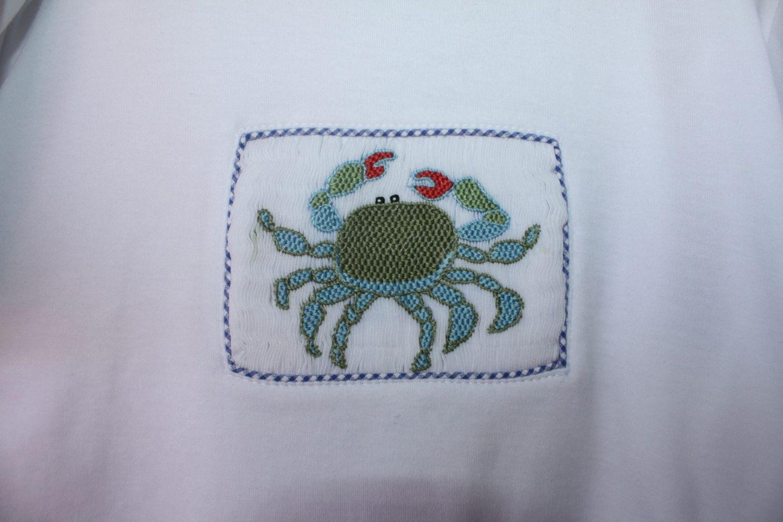 Blue Crab Shirt Close Up