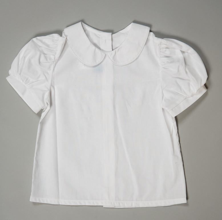Girls peter pan shirt childrens clothing smocked for White cotton shirt peter pan collar