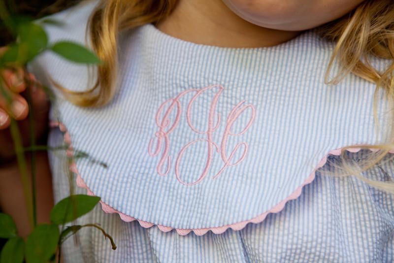 Monograamed close up Brooke Dress, smaller