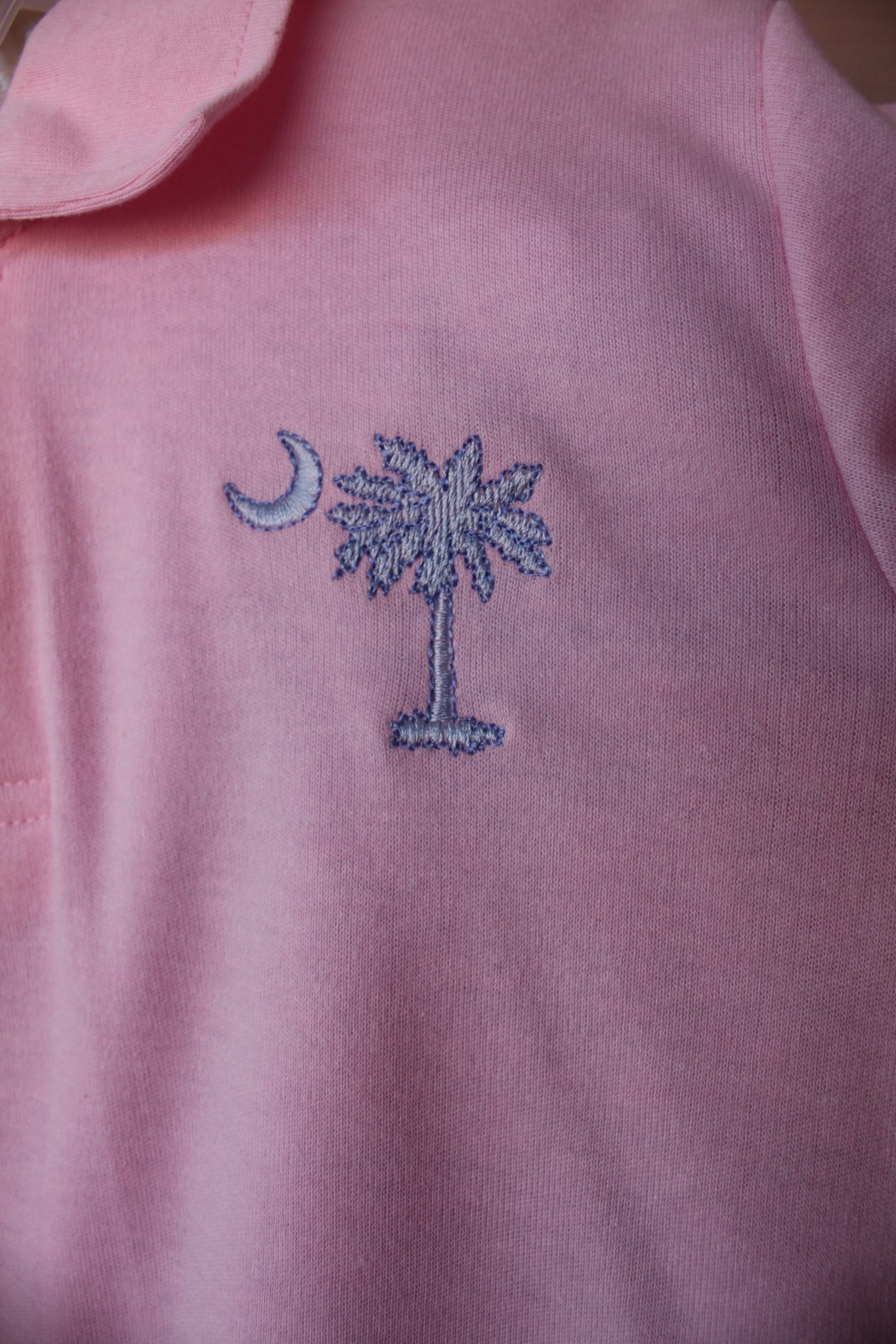Palmetto Moon Embroidery Close Up