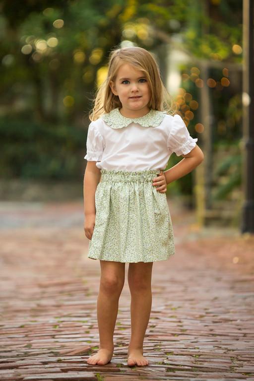 Vintage Floral Skirt Set