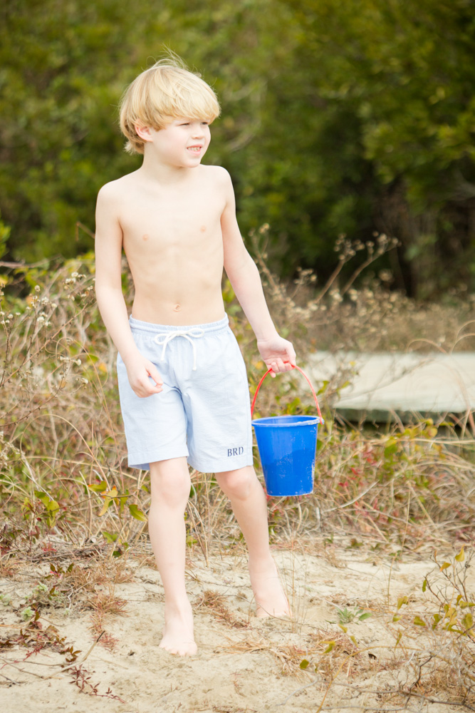 Boys Blue Swimsuit - Childrens Clothing Smocked Heirloom Bishop Gowns