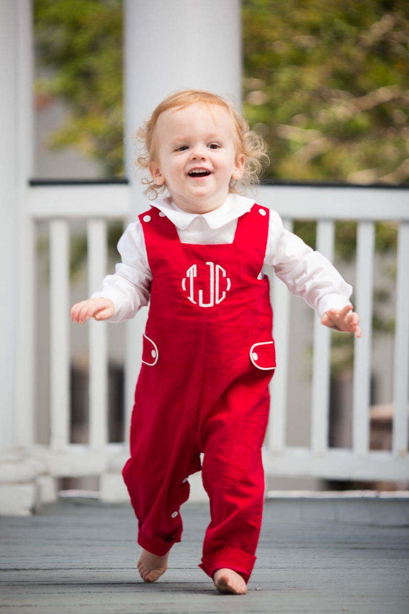 Boys Red Longall Childrens Clothing Smocked Heirloom