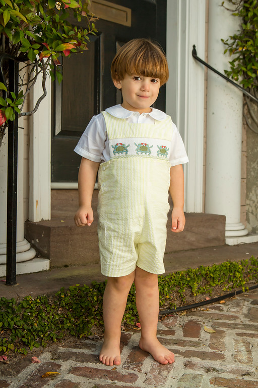 Carolina Blue Crab Jon Jon Childrens Clothing Smocked