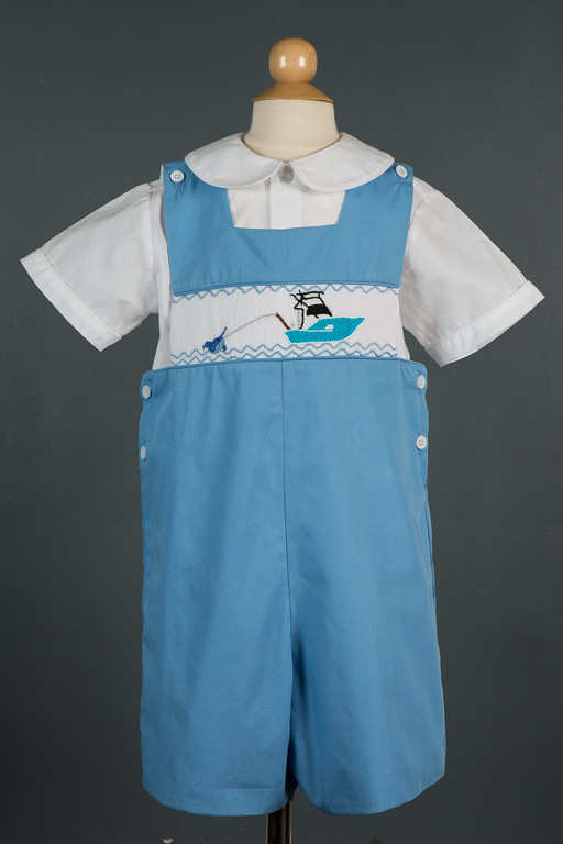 Fish On Jon Jon Childrens Clothing Smocked Heirloom
