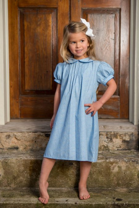 Floral Peter Pan Dress Childrens Clothing Smocked