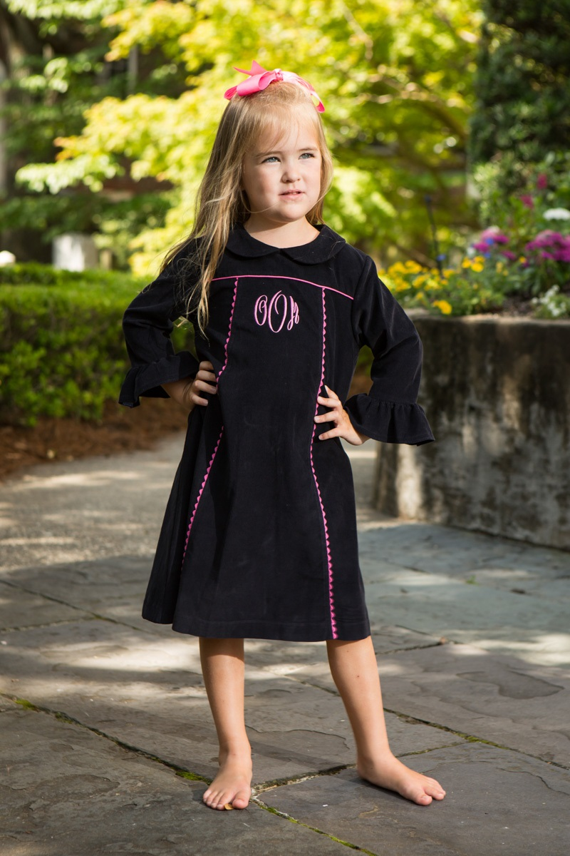 Navy Ric Rac Dress Childrens Clothing Smocked Heirloom