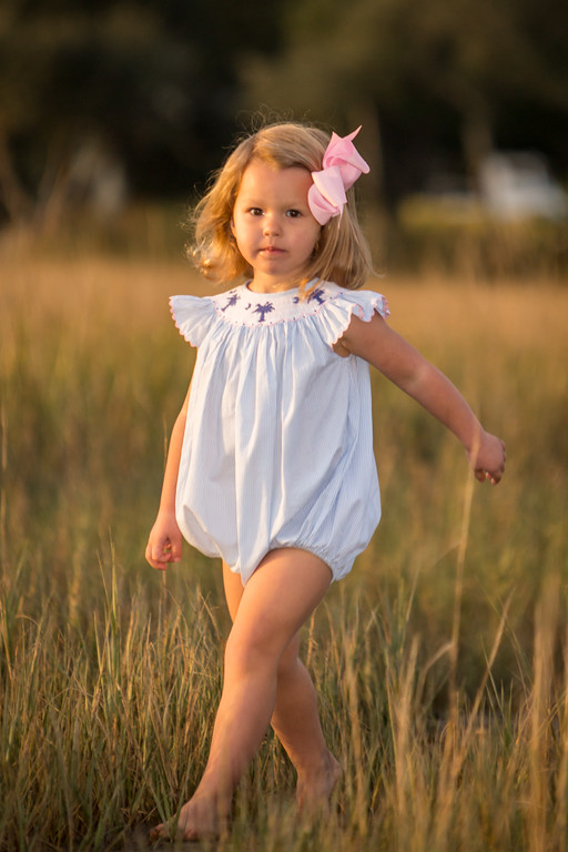 Girls Palmetto Moon Bubble Childrens Clothing Smocked