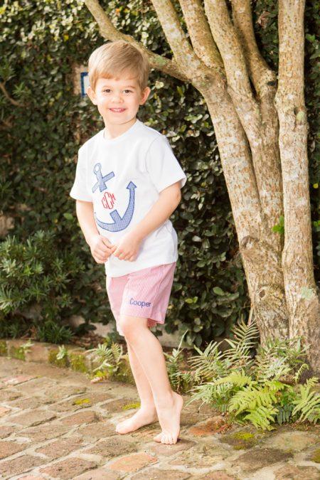 Boys Anchor Monogram Short Set Childrens Clothing