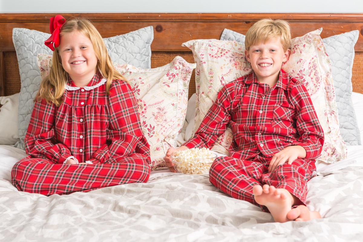 winter tartan red pajamas