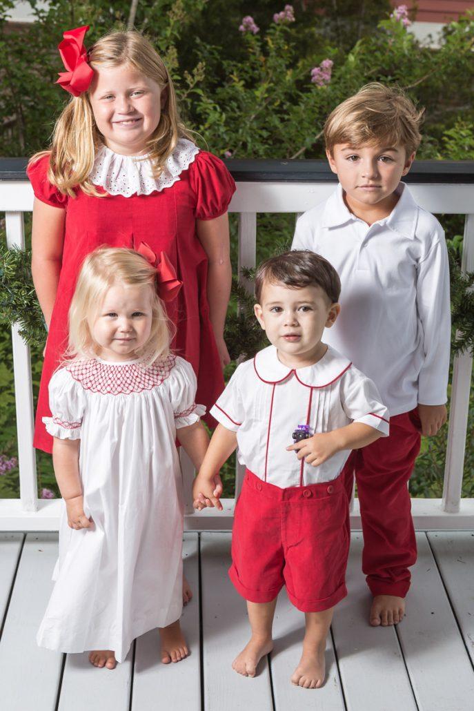 Red Christmas Outfits - Red Christmas Outfits - Childrens Clothing Smocked Heirloom Bishop Gowns